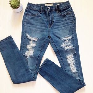 Pacsun | High Rise Heavily Distressed Jeggings